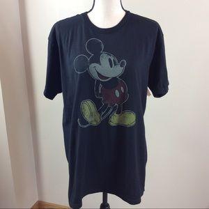 NWT Disney Park Mickey Mouse Black T-Shirt Sz L